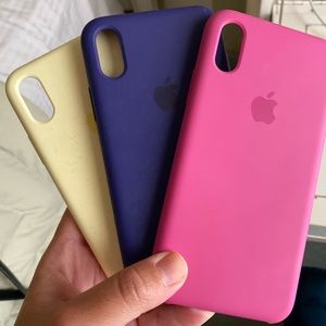 IPhone X silicone Apple cases